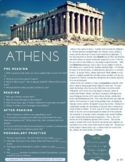 Athens - ESL Reading, Comprehension Check & Vocabulary Review