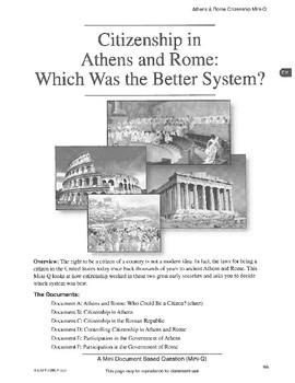 Athens & Rome: DBQ