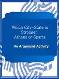 Athens & Sparta Claim Graphic Organizers - Argument Writing