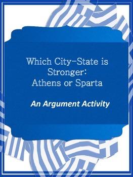 Athens & Sparta Claim Graphic Organizers - Argument Writing
