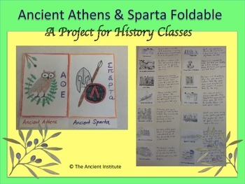 Athens & Sparta: Greek City-States Foldable Project
