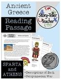 Athens Sparta Peloponnesian War Reading Passage