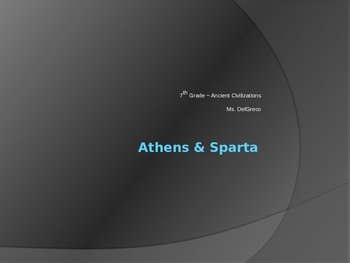 Athens & Sparta PowerPoint (Student Version)