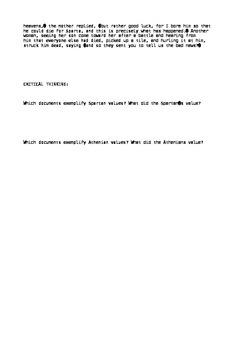 Athens V. Sparta Document Based Activity