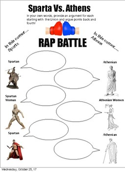 Athens V. Sparta Rap Battle