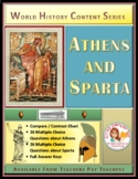 Athens and Sparta Compare and Contrast Activity Set