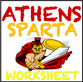Athens and Sparta Compare and Contrast Worksheet Common Core Aligned