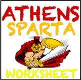 Athens and Sparta Compare and Contrast Worksheet Common Co