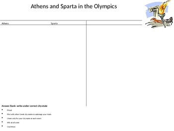 Athens and Sparta in the Olympics