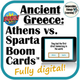 Ancient Greece: Athens vs Sparta Boom Cards™ for World History