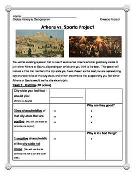 Athens vs. Sparta Project