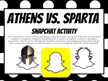 athens vs sparta snapchat activity by time traveling 101 tpt. Black Bedroom Furniture Sets. Home Design Ideas