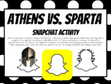 Athens vs. Sparta Snapchat Activity