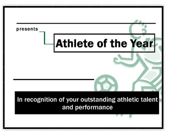 Athlete of the Year Award