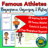 Athletes Inspirational Quotes Posters With Biography Graphic Organizers