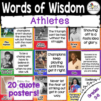 Athletes Quotes Posters
