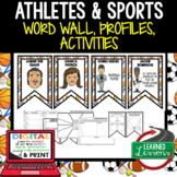 Athletes & Sports  Figures Word Wall, Profiles, Activity Pages Digital Google