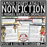 Nonfiction Passages- Sports Reading Comprehension Passages & Questions 4th Grade