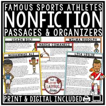 Sports Nonfiction Reading Comprehension Passages & Questions 4th Grade 3rd Grade