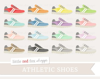 Athletic Running Shoe Clipart; Sports, Sneakers