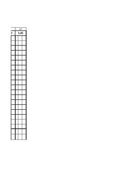Athletics - High Jump Scoresheet Template