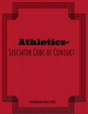 Spectator Code of Conduct - For Athletic Competitions