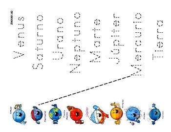 Atividades del tema: Sistema Solar