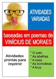 Atividades variadas baseadas nos poemas de Vinícius de Moraes