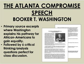 """""""The Atlanta Compromise"""" - Booker T. Washington - Civil Ri"""