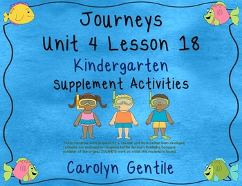Atlantic Journeys Unit 4 Lesson 18 Kindergarten Supplement Activities