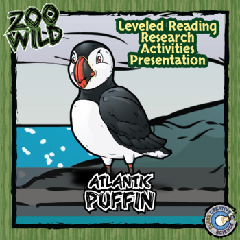 Atlantic Puffin -- 10 Resources -- Coloring Pages, Reading & Activities