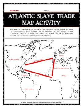atlantic slave trade reading with questions map activity benefits and harms. Black Bedroom Furniture Sets. Home Design Ideas