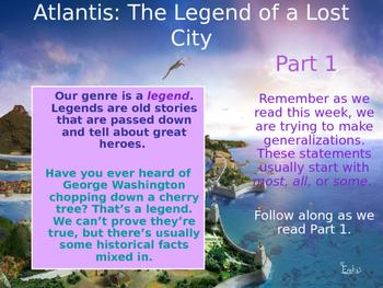 Atlantis: Legend of a Lost City Reading Street PowerPoint 3.6.5