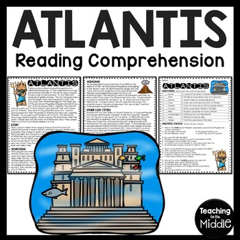 The Lost City of Atlantis Reading Comprehension Worksheet