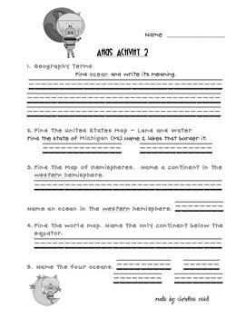 Atlas Activities -Reference Skills Practice (1-6)