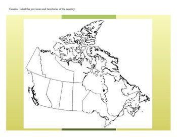 Atlas Activity for Introduction of U.S. and Canada Geography | TpT