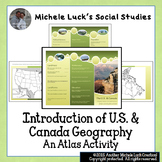 Atlas Activity for Introduction of U.S. and Canada Geography