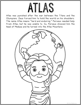 greek mythogy coloring pages - photo#22