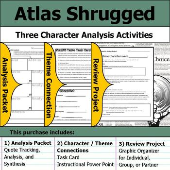 Atlas Shrugged - Character Analysis Packet, Theme Connections, & Project