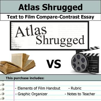 Atlas Shrugged - Text to Film - Compare & Contrast Essay Bundle