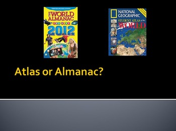 Atlas or Almanac? Reference book PowerPoint and game