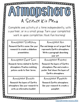 Atmosphere Activities