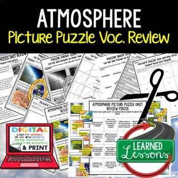 Atmosphere (Air, Water, Weather, Climate) Picture Puzzle Study Guide Test Prep