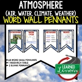 Atmosphere (Air, Water, Weather, Climate) Word Wall (Earth
