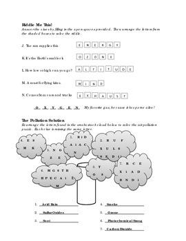 Atmosphere - Brain Teasers and Challenge - Worksheet