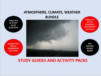 Atmosphere, Climate, and the Weather Bundle: Study Guide/Activity Packs