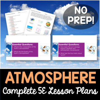 Atmosphere Complete 5E Lesson Plan