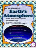 Earth's Atmosphere - Composition/Structure/Ozone layer/Greenhouse effect