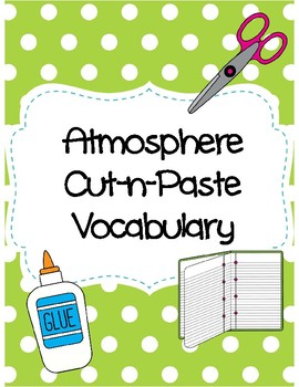 Atmosphere Cut-n-Paste Vocabulary