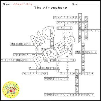 Atmosphere Crossword Puzzle